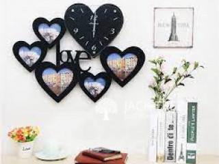DIY Wall Clock Module Heart Design - BLACK