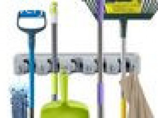 Mop and Broom Wall Mount Holder