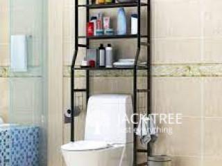 Wall Punch-free Toilet Washbasin Storage Shelf