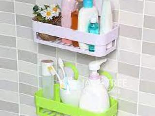 Bathroom Shelf Rectangle Plastic Kitchen Storage