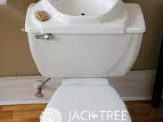 Commode with Bathroom Sink
