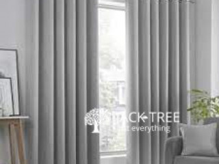 Silver Colour mix Light Grey Ready Made Curtains