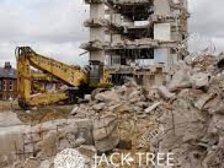 Concrete and building Demolished