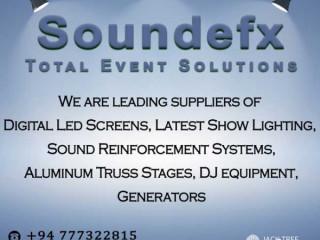 Sound EFX Entertainments -Event Equipment Rental Service.